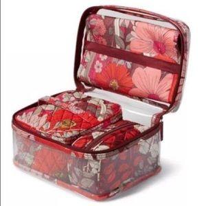 Vera Bradley 4pc cosmetic bag
